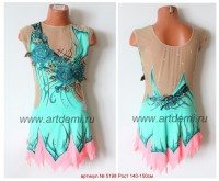 Suit for art gymnastics The article № 5198 Sizes: Growth of 140-150 centimeters - www.artdemi.ru