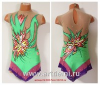 Suit for art gymnastics   The article № 5335 Sizes: Growth of 128-136 centimeters - www.artdemi.ru